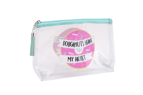 Gym and Tonic Clear Doughnut Wash Bag