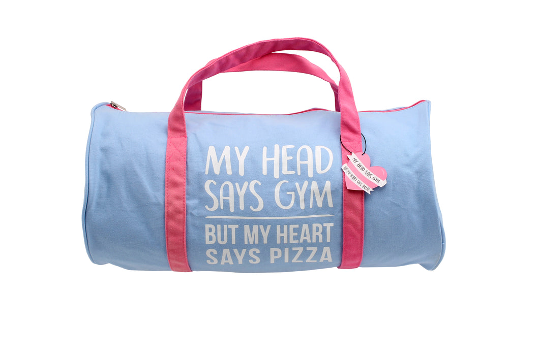 Gym and Tonic Heart Says Pizza Duffle Bag
