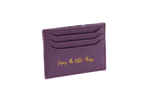 Willow & Rose Enjoy The Little Thing Purple Card Holder