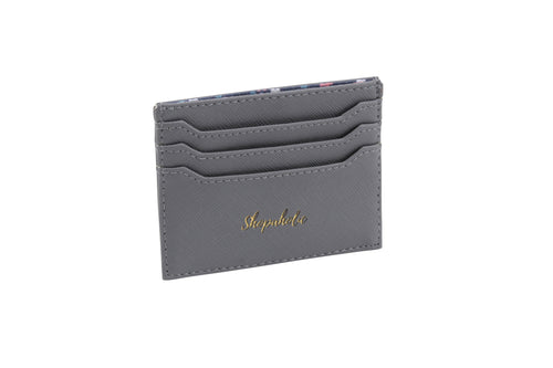 Willow & Rose SHOPAHOLIC Grey Card Holder