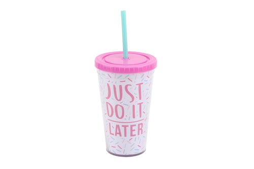Gym and Tonic Just Do It Later Travel Cup