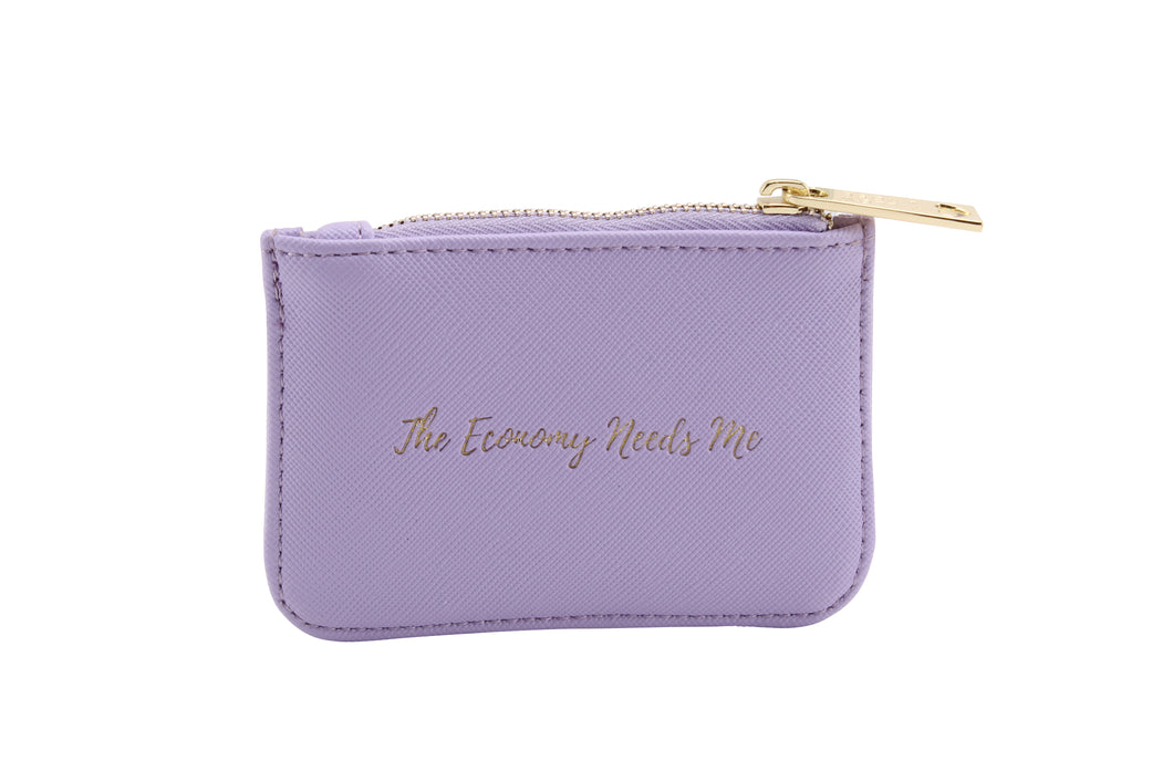 Willow & Rose The Economy Needs Me Lilac Purse