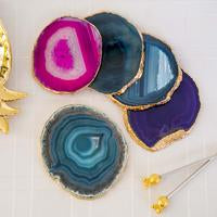 Load image into Gallery viewer, 4 Emporium Agate Coasters