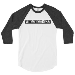 Project 432 Font 3/4 sleeve raglan shirt