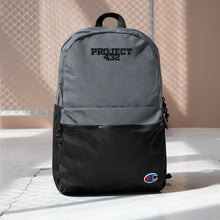 Load image into Gallery viewer, Black Logo Embroidered Champion Backpack