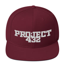Load image into Gallery viewer, Puffy White Logo Snapback Hat