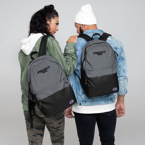 Black Logo Embroidered Champion Backpack