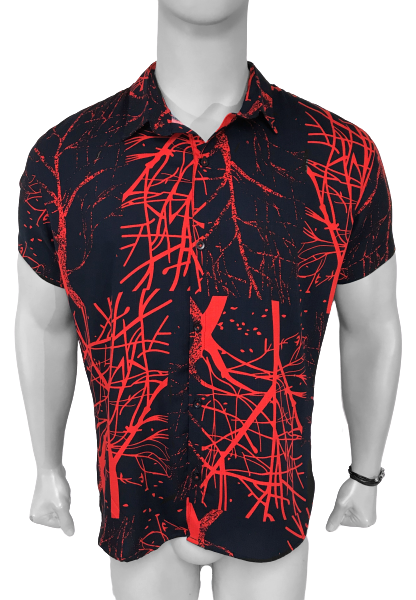 Camisa Hombre Red Thunder - Azul Noche