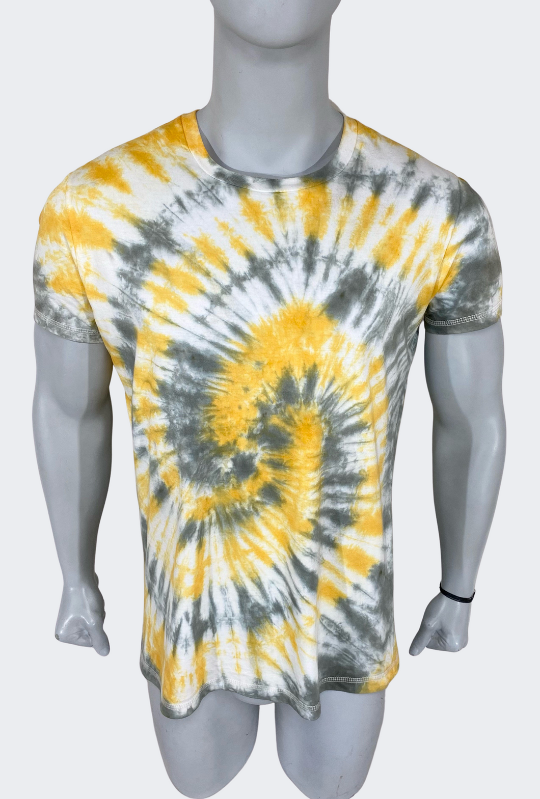 Polo Hombre Tie Dye Effect Black & Gold - Negro