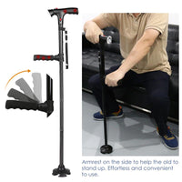 Multifunctional Foldable LED Walking Stick