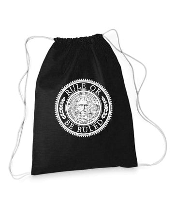 Rule or be Ruled Black Stringer Bag