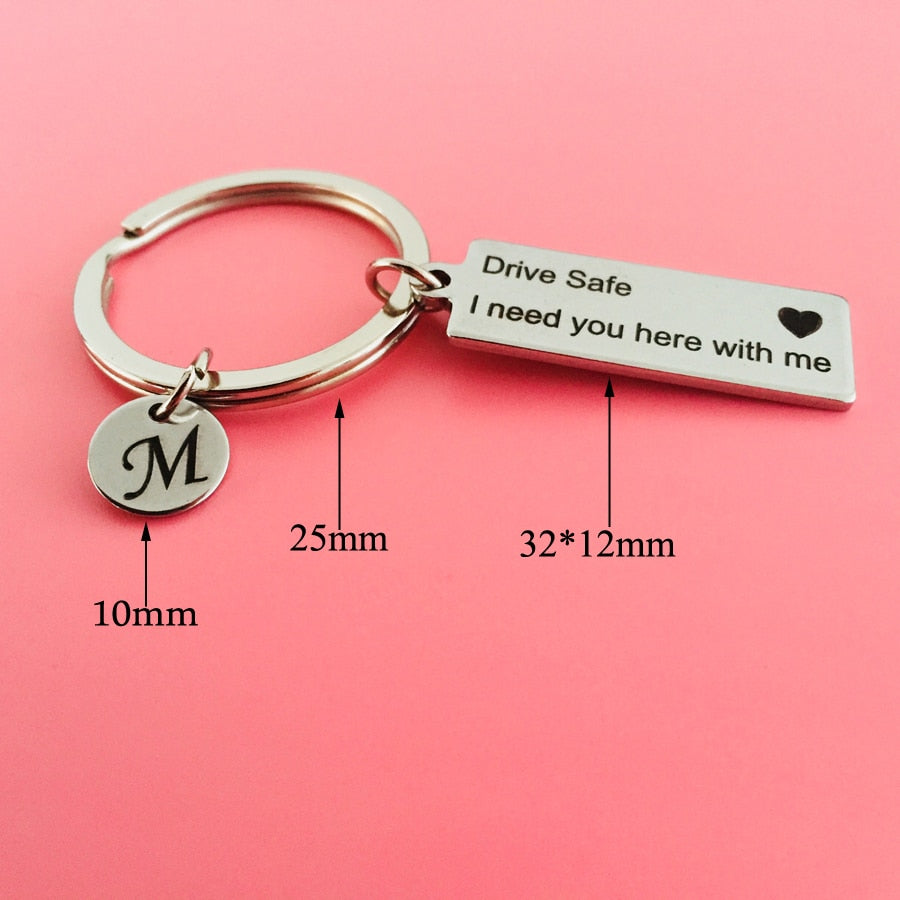 Buy Couples Love Heart Key Ring Pair - Drive safe I need you here – Lalello