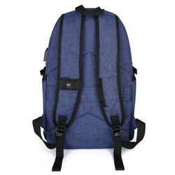 AmazingBag Business Water Resistant Polyester Laptop Backpack with USB Charging Port