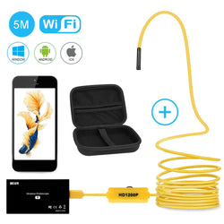 Wireless Endoscope, 2 in 1 Semi-rigid Borescope Inspection Camera 2.0 Megapixels 1200P HD