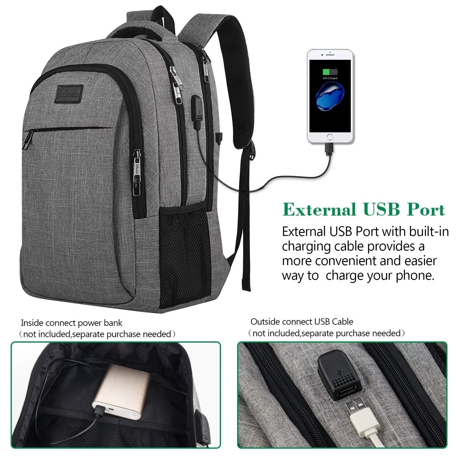 e2dae4c5cfb5 Travel Laptop Backpack With Usb Charging Port- Fenix Toulouse Handball