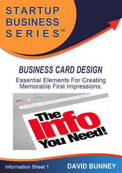Business Card Design - INSTANT DOWNLOAD - Information Sheet