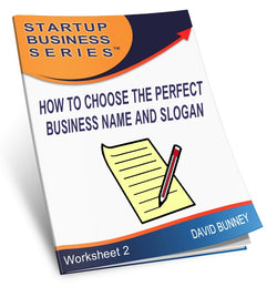 How to choose the perfect business name and slogan - INSTANT DOWNLOAD - Worksheet