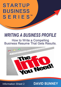 Writing a Business Profile - INSTANT DOWNLOAD - Information sheet