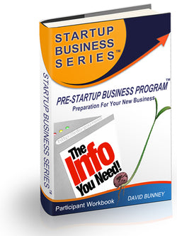 Pre-Startup Business Program - INSTANT DOWNLOAD - Workbook