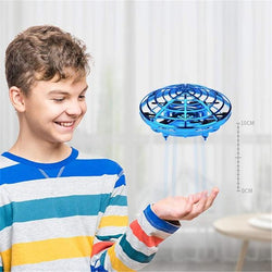Hot New Toy for the Best Family Fun Ever -Mini Flying Helicopter UFO RC Drone Hand Sensing Aircraft Electronic Quadcopter