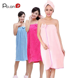 Women Wearable Bath Towel Super Absorbent 120 x 80cm