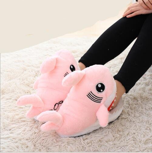Fuzzy Shark Slippers Winter Super Animal Funny Shoes Oneclick Inspire