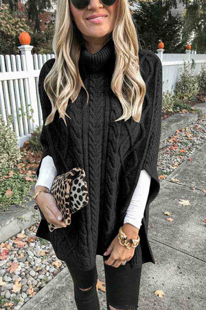 zeewer High Neck Loose Knit Sweater