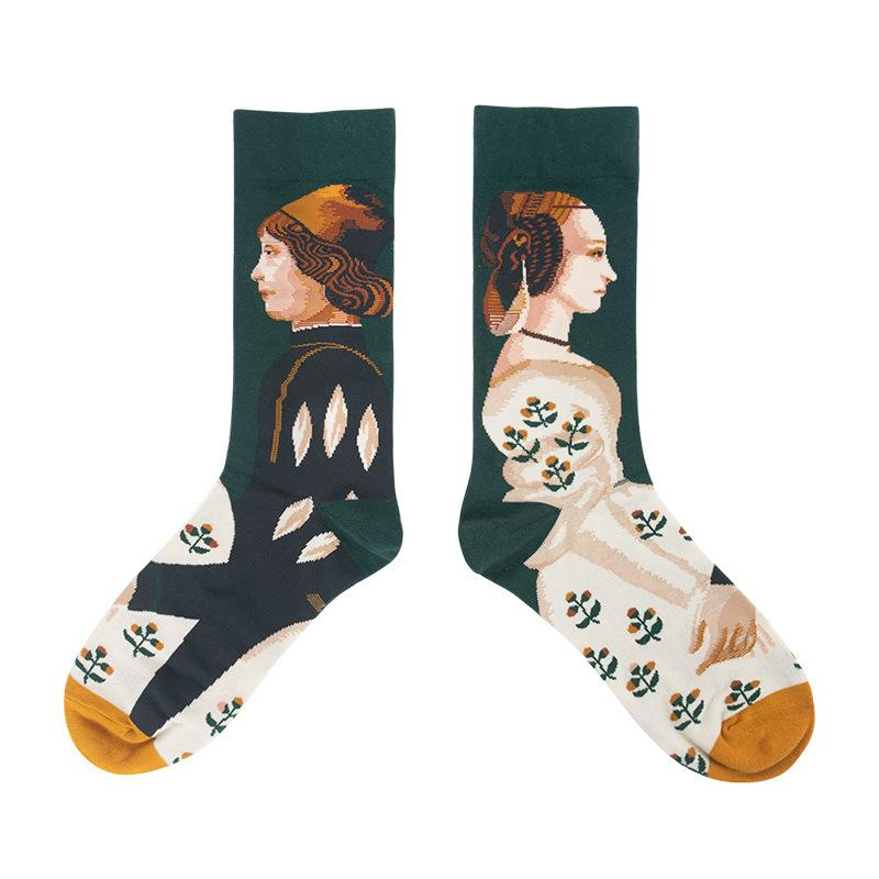 Zeewer Winter New Creative Pattern Socks