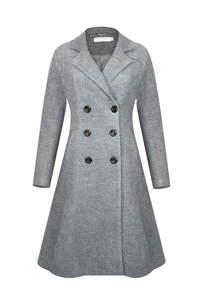 Zeewer Winter Lapel Double Breasted Coat(4 Colors)