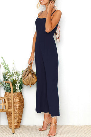 Zeewer Fashion Spaghetti Strap Sleeveless Jumpsuits(2 Colors)