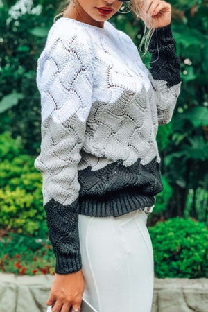 Zeewer O Neck Knit Sweaters