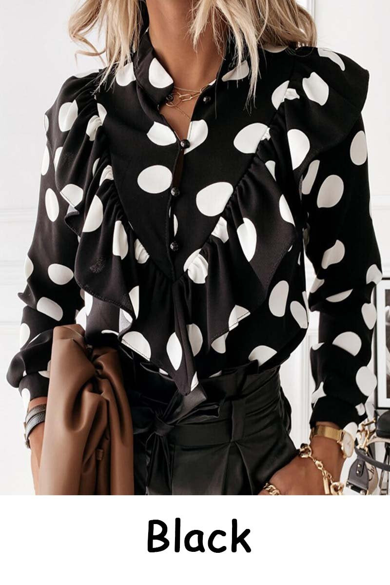 zeewer Leopard Dot Print Shirt