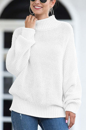 Zeewer Breathable Bat Sleeve Knit Sweater