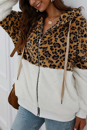 Zeewer Leopard Stitching Coat