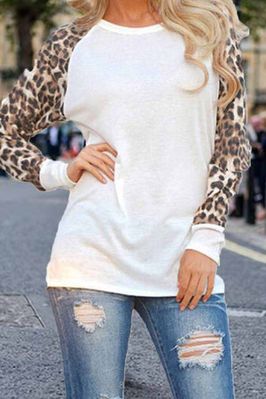 Zeewer Leopard Print Long sleeve Top(Extra Offer)