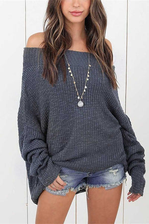 zeewer Solid Color Sweater
