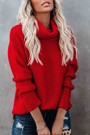 zeewer Loose Style Turtleneck Warm Sweater