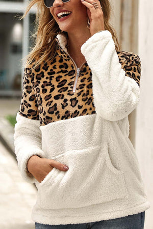 Zeewer Leopard Stitching Tops