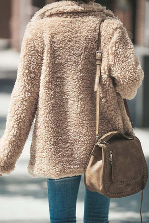 Zeewer Winter Plush Coat Cardigan
