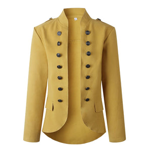 Zeewer Casual Buttons Design Long Sleeve Coat(3 Colors Extra Offer)