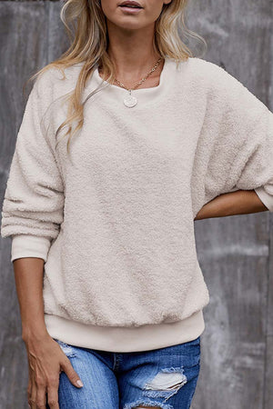 Zeewer Teddy Plush Sweater Casual Tops