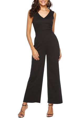 Zeewer V Neck sleeveless jumpsuit