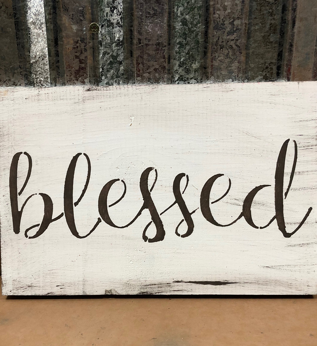 Blessed Hand Painted Sign