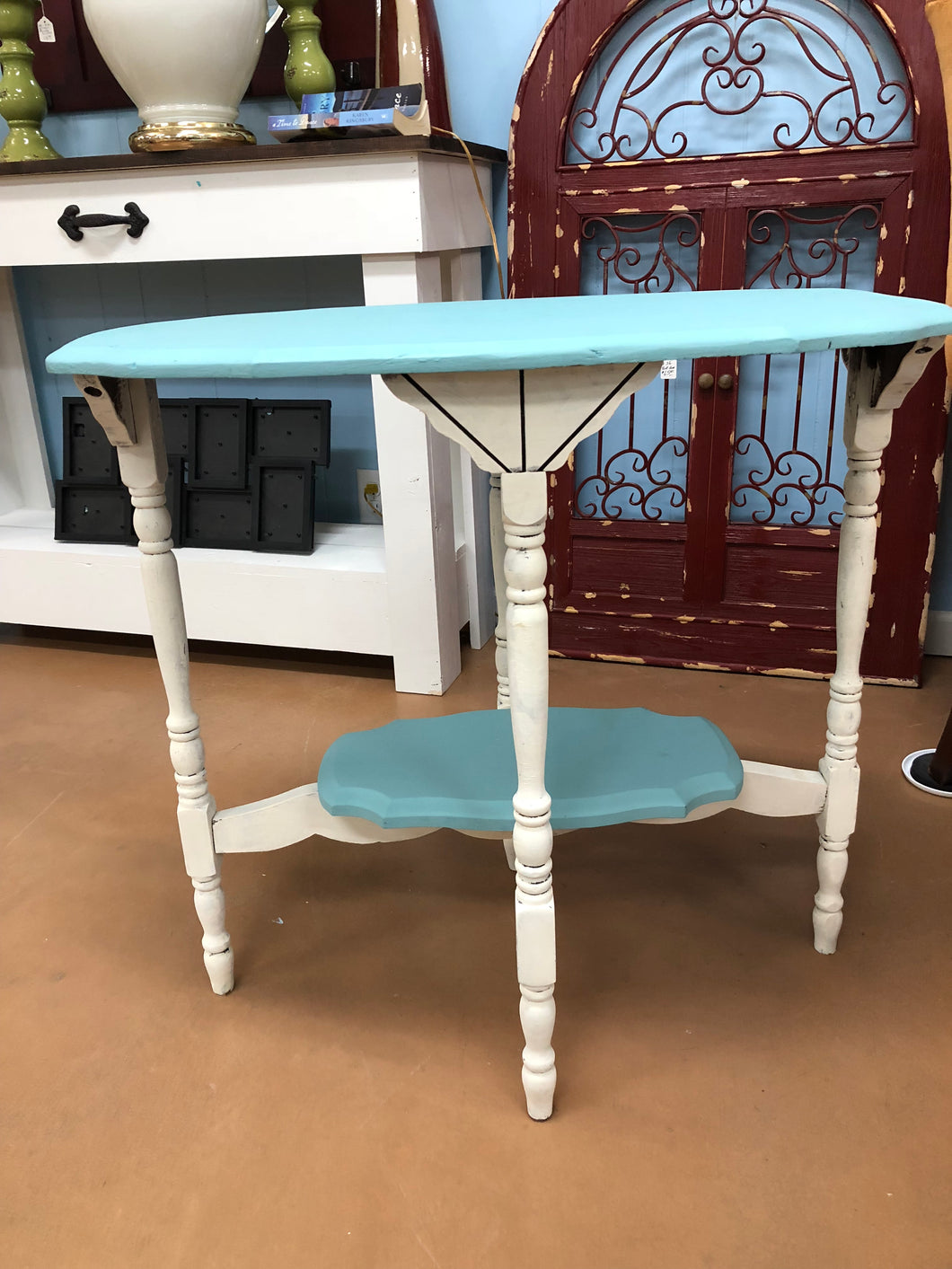 Blue & White Accent Table