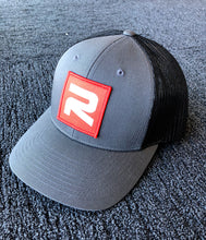Load image into Gallery viewer, Gray/Black Relevant Trucker Hat