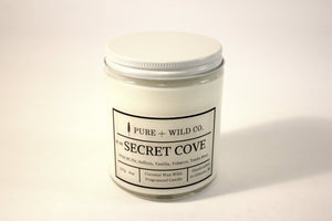 № 03 SECRET COVE - Fir, Saffron, Vanilla, Tobacco, Tonka Bean PURE + WILD CO. Cotton Wick
