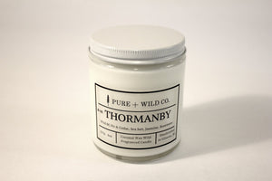 № 02 THORMANBY - Fir, Cedar, Rosewater, Ozone, Jasmine, Musk PURE + WILD CO. Cotton Wick