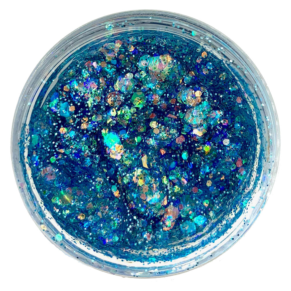 Paris Nights light blue glitter gel