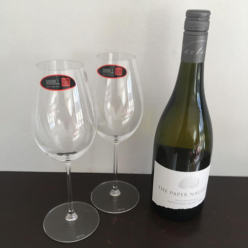 2016 The Paper Nautilus Sauvignon Blanc and Two Riedel Sauvignon Blanc Glasses