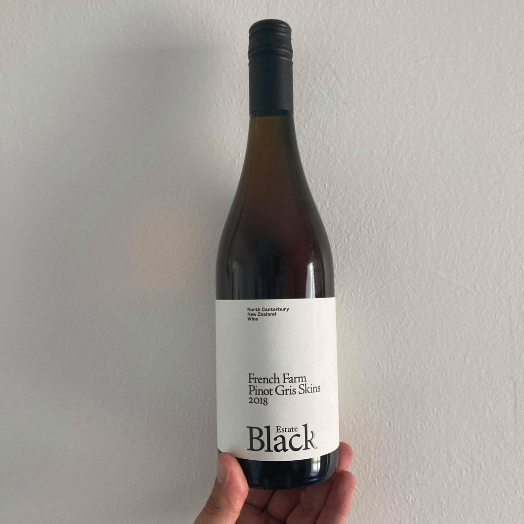 2018 Black Estate 'French Farm' Pinot Gris Skins
